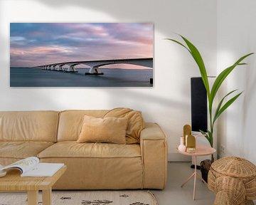 Zeelandbrug zonsopkomst van Marjolein van Middelkoop