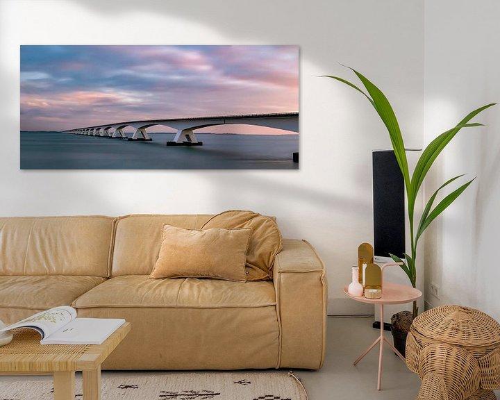 Sfeerimpressie: Zeelandbrug zonsopkomst van Marjolein van Middelkoop
