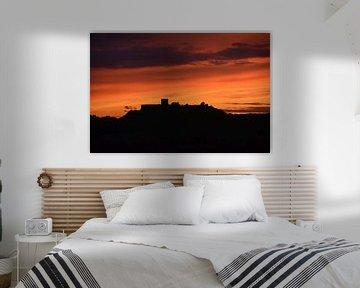 Silhouettenschloss bei Sonnenuntergang im Alentejo Portugal von My Footprints