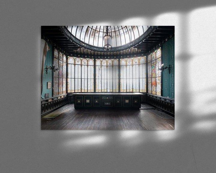 Sfeerimpressie: Prachtige Verlaten Wintertuin. van Roman Robroek