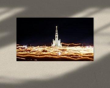Fatima: Lichtprocessie in de Basílica de Nossa Senhora de Fátima van Berthold Werner