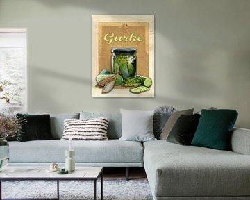 Küchenbild Gurken von Dirk H. Wendt