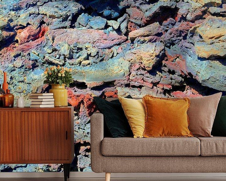 Sfeerimpressie behang: Lava kunst van Inge Hogenbijl