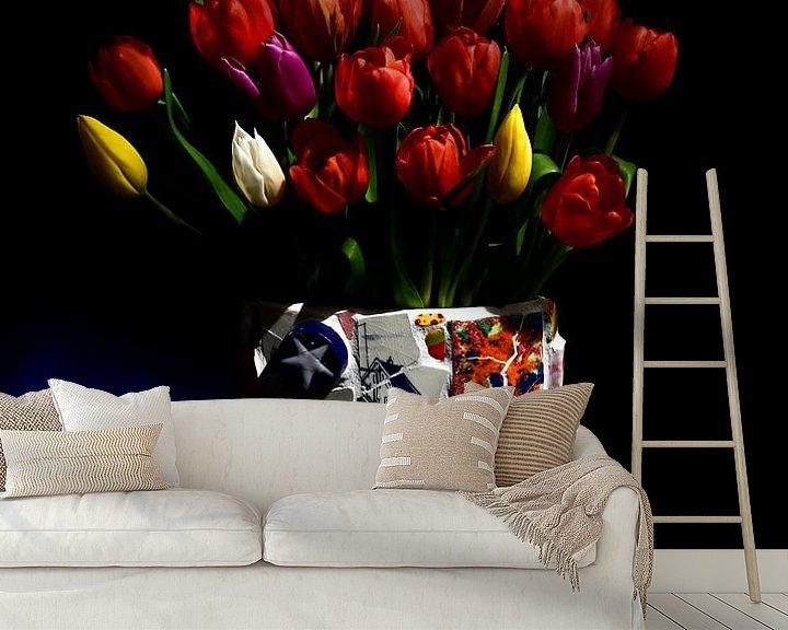 """Beispiel fototapete: """"Tulpen aus Amsterdam von Roelina Holtrop"""