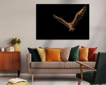 Ein beleuchteter Vogel von Miranda Heemskerk