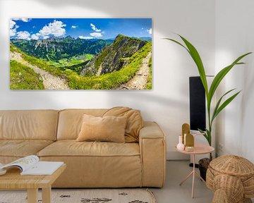 Panorama van de Krinnenspitze van Walter G. Allgöwer