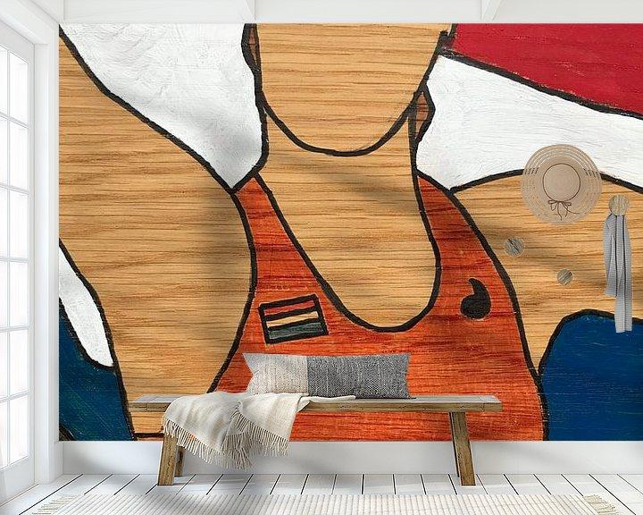 Sfeerimpressie behang: Dafne Schippers van hou2use
