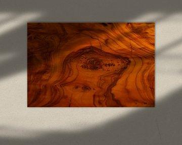 Macro Walnotenhout sfeer van Julius Koster