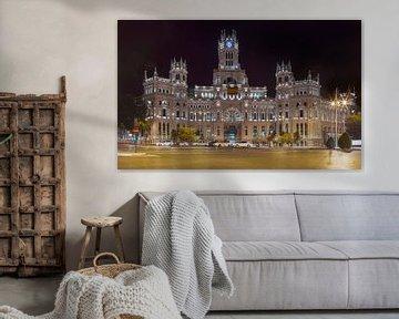 Palacio de Cibeles Madrid am Abend von Maurits van Hout