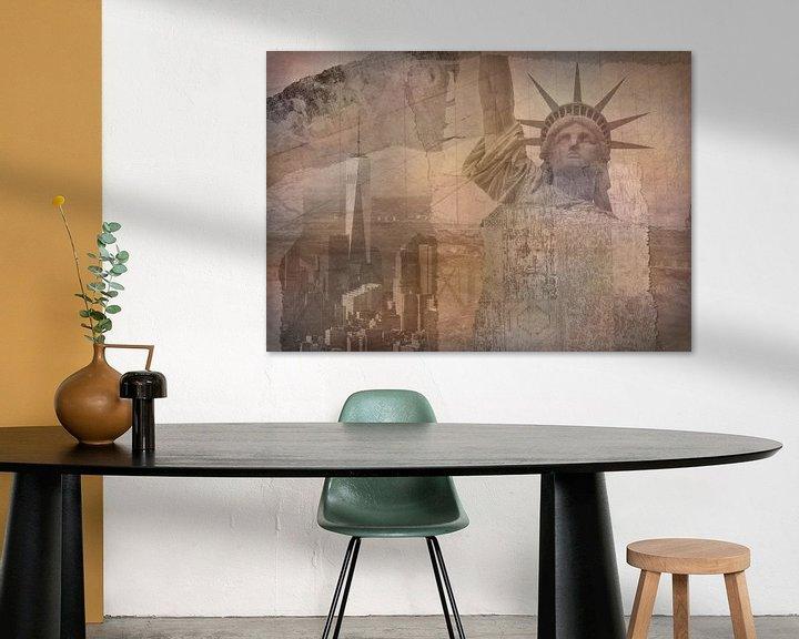 Beispiel: New York City Collage, orange (für andere Farben siehe Album-Collagen) von Anita Meis