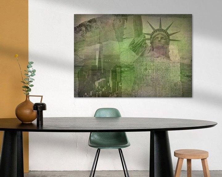 Beispiel: New York City Collage, grün (für andere Farben siehe Album-Collagen) von Anita Meis