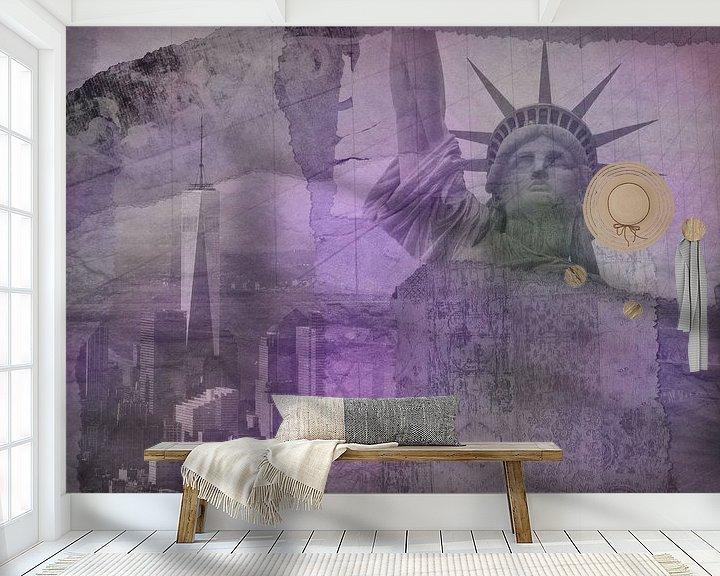 Impression: New York city Collage, violet (pour les autres couleurs, voir les collages de l'album) sur Anita Meis