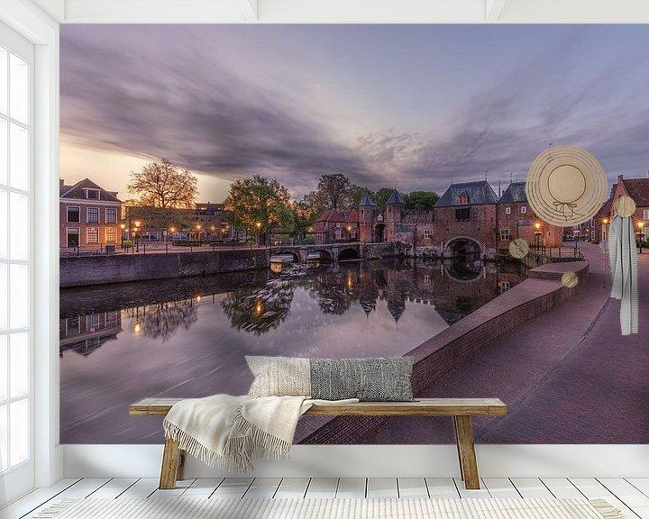Beispiel fototapete: Das Koppelpoort in Amersfoort während des Sonnenaufgangs von Dennisart Fotografie