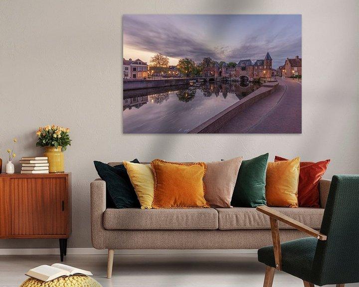 Beispiel: Das Koppelpoort in Amersfoort während des Sonnenaufgangs von Dennisart Fotografie
