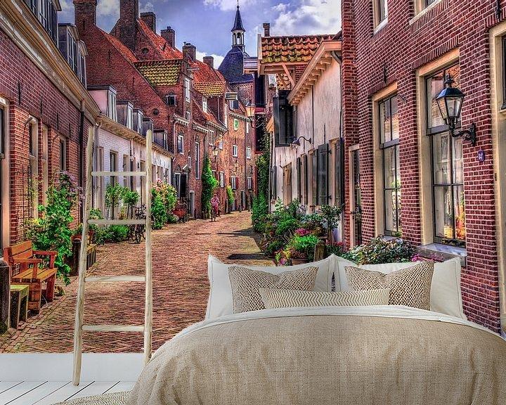 Sfeerimpressie behang: De Muurhuizen in Amersfoort van Dennisart Fotografie