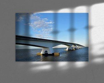 Zeelandbrücke über die Oosterschelde bei Zierikzee, Niederlande von Robin Verhoef