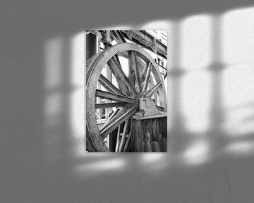 großes industrielles Stahlrad von Robin Verhoef
