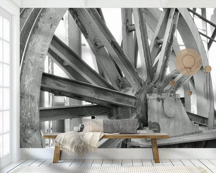 Beispiel fototapete: großes industrielles Stahlrad von Robin Verhoef