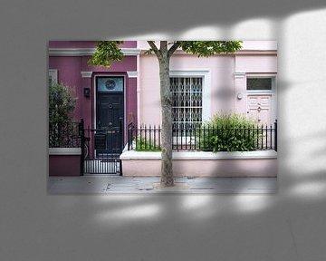 Farbenfrohe Häuser in Notting Hill von Angeline Dobber
