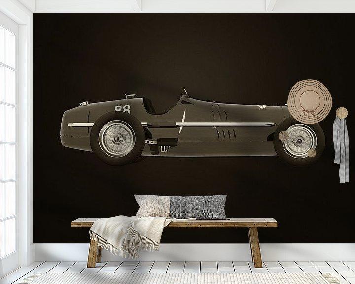 Sfeerimpressie behang: Alfa Romeo 8C 1935 B&W van Jan Keteleer