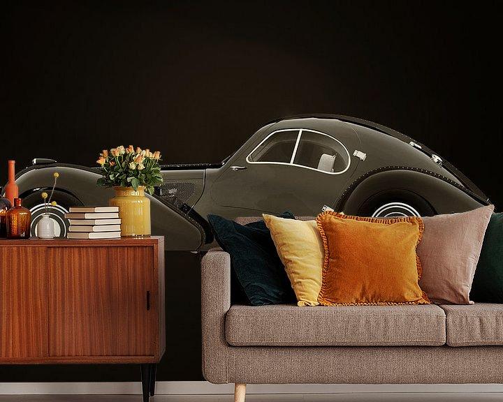 Beispiel fototapete: Bugatti 57-SC Atlantic von 1938 S/W-Version von Jan Keteleer