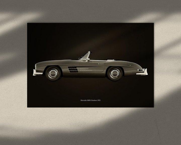 Sfeerimpressie: Mercedes 300SL roadster 1953 B&W van Jan Keteleer