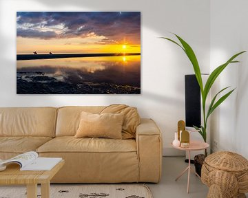 Zonsondergang Zeeland van Annika Westgeest Photography