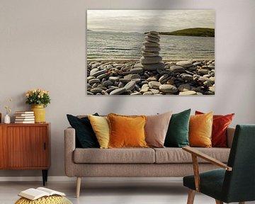 Stenen toren op Ardmair Point van Babetts Bildergalerie