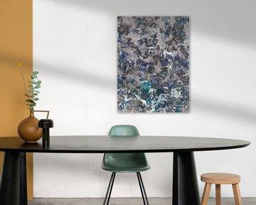 Abstrakt in Blau- und Grautönen von Maurice Dawson