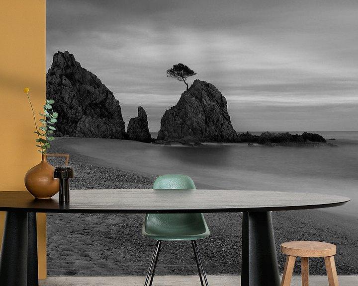 Impression: Un rocher bien connu sur la plage de Tossa de Mar/ Espagne sur Frank Herrmann