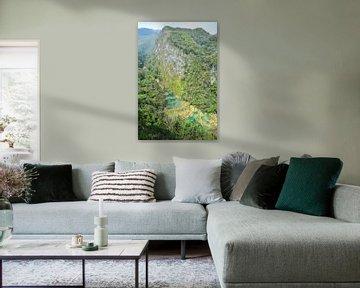 Uitzicht op de watervallen van Semuc Champey Guatemala van My Footprints