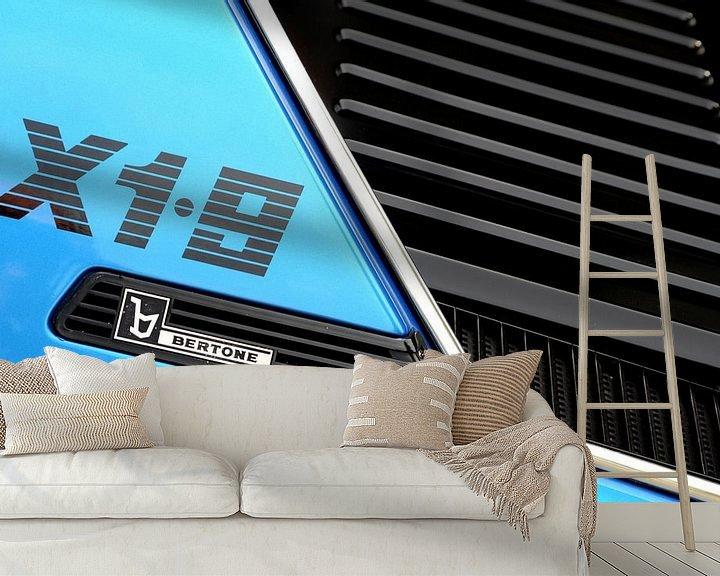 Sfeerimpressie behang: Bertone (Fiat) X1.9 van Jurien Minke