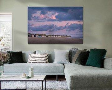 Dreigende lucht op Texel van Mark Bonnenberg