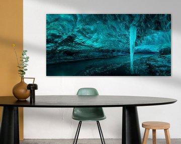 IJspijler onder de gletsjer van Keith Wilson Photography