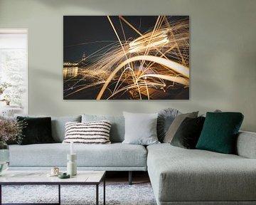 Spritzende Stahlwolle-Fotografie von Fotografiecor .nl