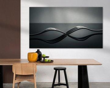 Gabeln Black & White Fine Art von Steffen Peters
