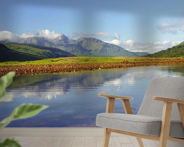 Impression: Glen Etive coloré en Ecosse avec le reflet des montagnes dans la rivière. sur Babetts Bildergalerie