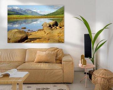 Kleurrijke Glen Etive in Schotland. van Babetts Bildergalerie
