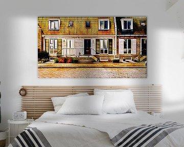 Huizen met bordes trap van Digital Art Nederland