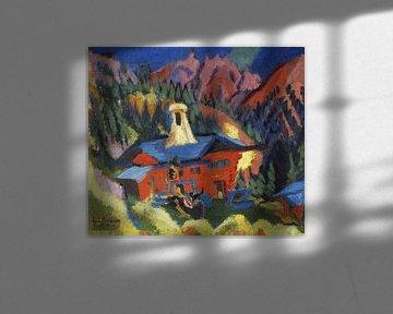 Haus auf der Staffel, ERNST LUDWIG KIRCHNER, 1918-1919 von Atelier Liesjes