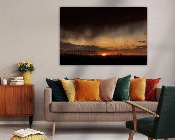 Spectaculaire zonsondergang van P Kuipers