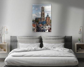 Domtoren, Buurkerk en de Steenweg. van Ramon Mosterd
