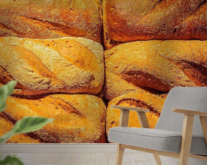 Beispiel fototapete: Frisch gebackenes Brot aus dem Ofen. von Jan van Dasler