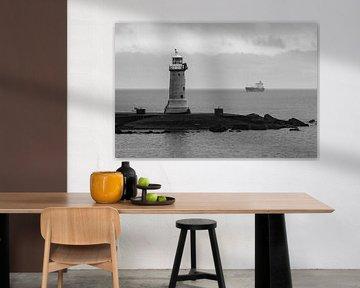 Leuchtturm Schwarz-Weiß von Randy Riepe