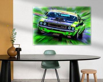 Green Monster - Dodge Challenger von Jean-Louis Glineur alias DeVerviers