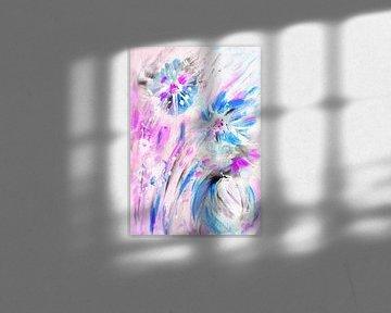 poppige Blumen von Claudia Gründler