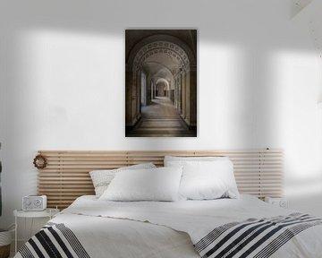Korridor in einer verlassenen Burg