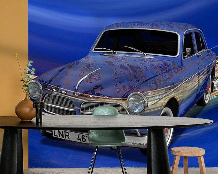 Impression: Affiche de la Volvo Amazon Art Car en bleu spécial par aRi F. sur aRi F. Huber