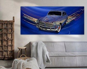 Volvo Amazon Art Car Poster in special blue by aRi F. von aRi F. Huber