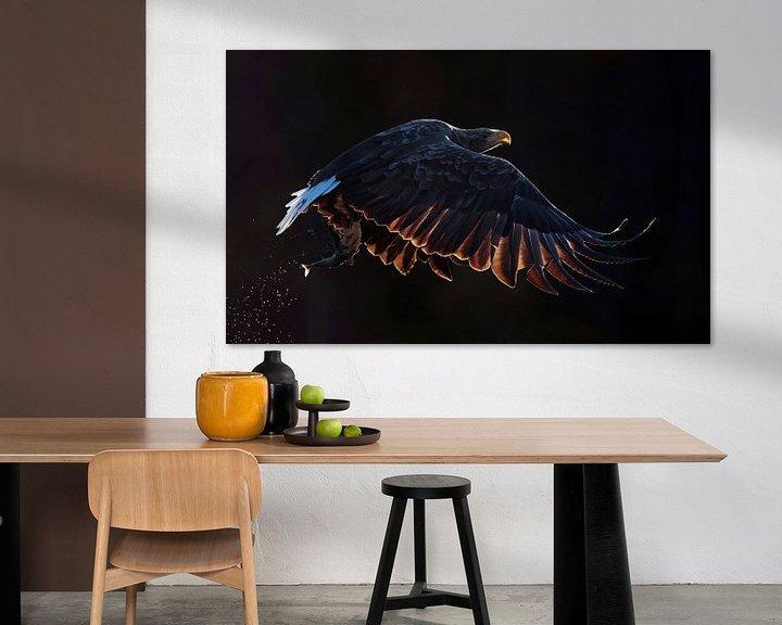 Sfeerimpressie: Vliegende  Zeearend (Haliaeetus albicilla) van Beschermingswerk voor aan uw muur